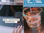 Mum shares her simple four-minute trick to clean her microwave