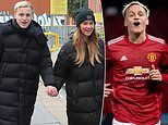 Manchester United's Donny van de Beek and girlfriend head out on shopping trip in matching coats