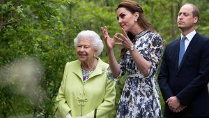 Prince George rated Kate Middleton's Chelsea Flower Show garden '20 out of 10′ when Prince William asked him what he thought