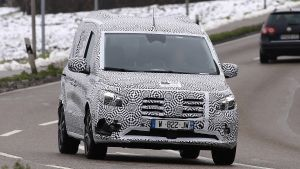 New 2022 Mercedes T-Class van-based MPV spotted testing