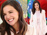 Katie Holmes beams as she hugs children at Ronald McDonald House ahead of McHappy Day