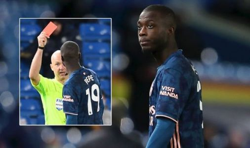 Arsenal ace Nicolas Pepe makes statement on Leeds red card as Ian Wright furious at star
