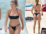 The Amazing Race's Ashley Ruscoe enjoys a day at the beach after split with ex Pierucci