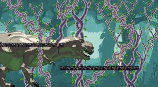 The Jurassic Park Theme Performed by the Vitamin String Quartet, Set Against a 16-Bit Video Game, Is Everything