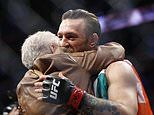 Donald Cerrone's grandma gives Conor McGregor a kiss after he knocks out her grandson in 40 seconds