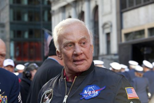 Celebrities and politicians are joining Buzz Aldrin in celebrating the 50th anniversary of the Apollo 11 moon landing