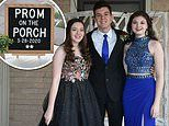 Texas family throws 'Prom on the Porch' for high school senior whose dance was canceled