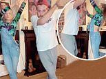 Laura Whitmore and boyfriend Iain Stirling showcase their dance skills with synchronised routine