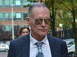Paul Gascoigne arrives to give evidence on second day of his sex assault trial