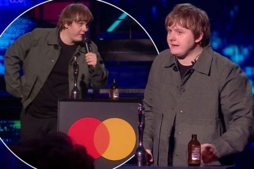 BRITs mute sweary Lewis Capaldi as he swigs from bottle while collecting award