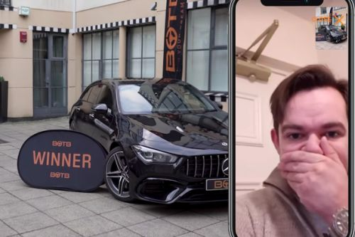 Lucky Scot scoops £54k luxury Mercedes and £10,000 in surprise birthday win