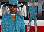 Billy Porter gets animated in motorized fringe as he serves another bold look at Grammy Awards