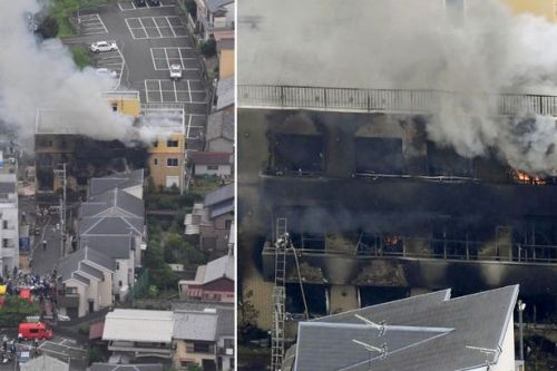 Kyoto Animation fire: Ten dead as screaming workers run from Japan 'arson attack'