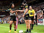 Penrith Panthers try celebration during Brisbane Broncos NRL clash divides nation