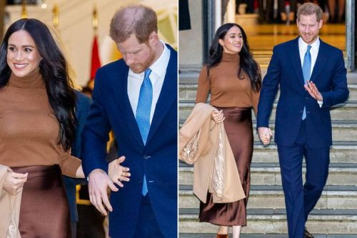 Harry and Meghan's physical touching shows they want to 'protect' each other