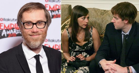 The Office US stars reveal Stephen Merchant cut out Jim and Karen's 'sloppy' first kiss