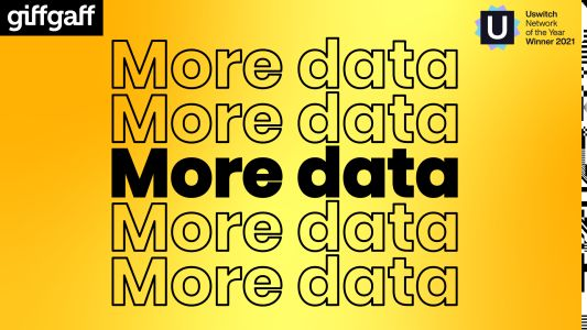 Do more for less: giffgaff's golden goodybags serve up massive amounts of data at even more affordable prices