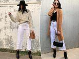 Women rush to buy $20 white denim jeans from Kmart that cinch the waist and conceal 'problem' areas