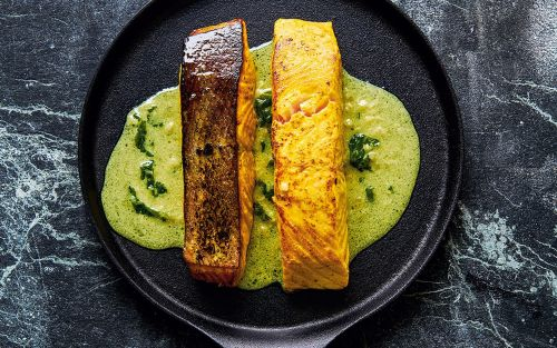 Salmon fillets with Indian spices and coconut recipe