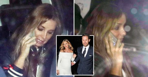 Louise Redknapp keeps head down as she's seen for first time since ex-husband Jamie's wedding to Frida Andersson
