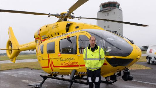 Can Prince William return to his job as air ambulance pilot?