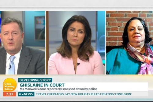 Piers Morgan slams Ghislaine Maxwell friend's 'repulsive' defence as a 'victim'