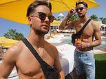 Chris Hughes goes shirtless as he enjoys the single life during sunshine break in Ibiza