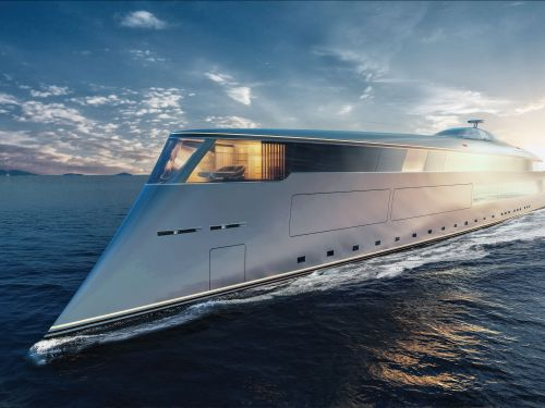 The world's first hydrogen-powered superyacht was unveiled at the Monaco Yacht Show. Here's a look inside the game-changing 367-foot vessel concept