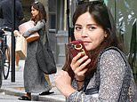 Jenna Coleman is seen for the first time since handing over her house keys to Tom Hughes
