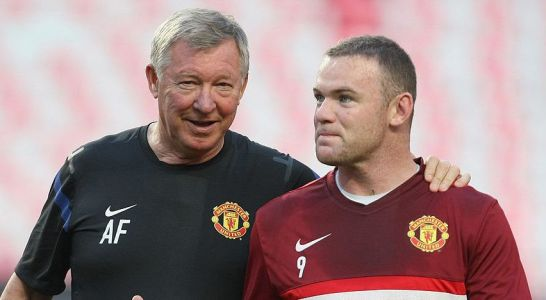 Sir Alex Ferguson reacts to Wayne Rooney over becoming Derby manager