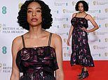 BAFTA 2021 Film Awards: Corinne Bailey Rae cuts a striking figure in black and purple midi dress