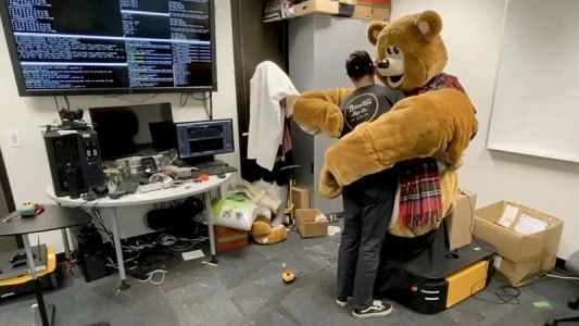 Half My Nightmares Start With This Giant Cyborg Teddy Bear Learning How to Hug