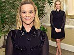 Reese Witherspoon oozes class and style in black mini dress at Elle's 2019 Women In Hollywood event