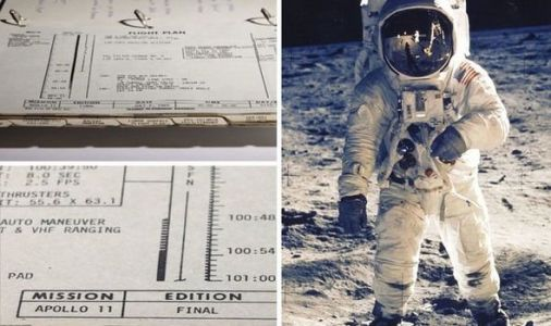 Apollo 11 moon landing manual with 'moon dust traces' REVEALED in stunning pictures