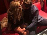 Caroline Flack's grieving boyfriend Lewis Burton shares an unseen photo of the pair sharing a kiss