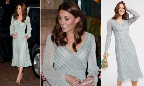 This sparkling ASOS dress is a dead ringer for Kate Middleton's designer number
