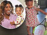 Serena Williams shares video of her daughter Olympia, age one, playing with her tennis rackets