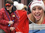 Patrick Mahomes joined on victory bus by girlfriend Brittany Matthews at Kansas City Chiefs parade