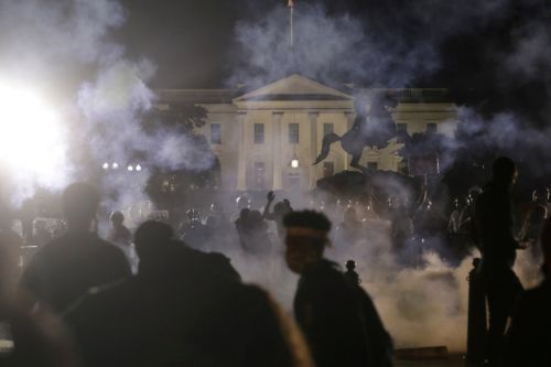 Donald Trump ran and hid in White House bunker as protesters gathered outside