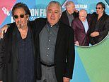 Robert De Niro and Al Pacino are joined by Martin Scorsese at photocall for The Irishman in London