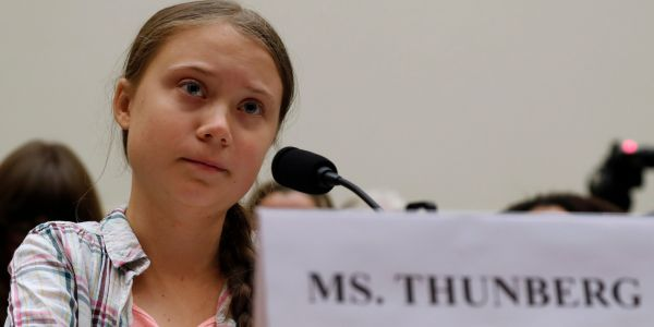 Greta Thunberg clapped back at Deutsche Bahn after it appeared to accuse her of staging a picture of her sitting on the floor of an 'overcrowded' train