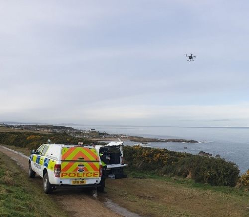 Police using specialist drone equipment in continued search for missing Findochty man