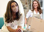 Kate Middleton opts for an on-trend look as she unpacks donations at a Baby Bank in Sheffield