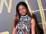 Naomie Harris puts on a stylish display in an embroidered shift dress at Fashion For Relief bash