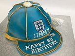 Icing on the cap for Jimmy as England great celebrates 80th birthday with special cake