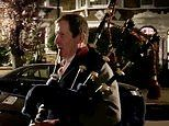 Tony Blair's former spin doctor Alastair Campbell serenades dedicated NHS nurse on BAGPIPES