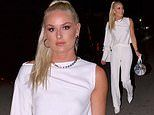 Lindsey Vonn looks heavenly in head-to-toe white as she meets friends for dinner at Craig's in LA