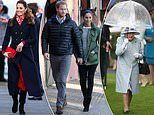 From Kate's up-do to Meghan's nifty layering technique, how the royals weatherproof their outfits