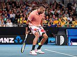 Nick Kyrgios toys with his Australian Open opponent with through the legs lob in first round victory