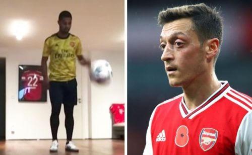 Mesut Ozil sends message to Serge Gnabry after he's spotted wearing Arsenal shirt
